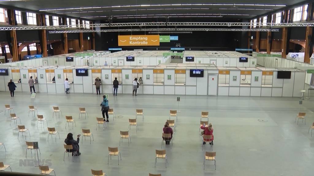Berset ist zufrieden: Das grösste Impfzentrum Berns hat eröffnet