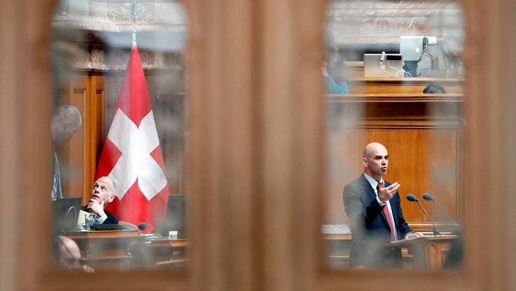 Gute Noten von links bis rechts: Bundesrat Alain Berset im Nationalrat