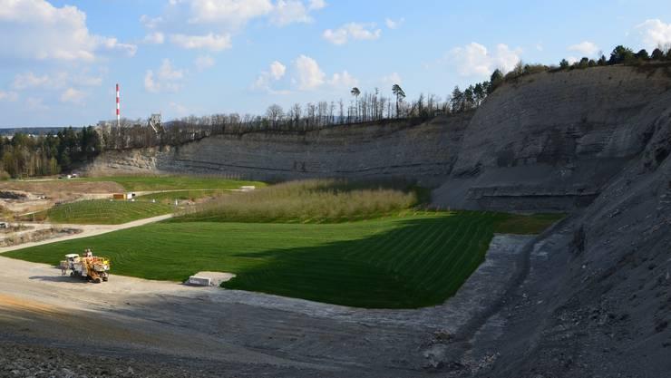 Wenn die geplante Erweiterung des Steinbruchs der Jura-Cement-Fabriken kommt, darf auch auf der Parzelle 645 der Vältner Ortsbürger Kalkstein abgebaut werden.
