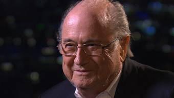 Sepp Blatter stellte sich den Fragen der Rundschau