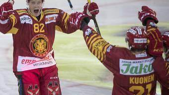 Der Mann der Stunde in Langnau: Raphael Kuonen hat noch nie in einer Saison mehr als fünf Tore geschossen, nun sind es nach sieben Spielen bereits deren vier