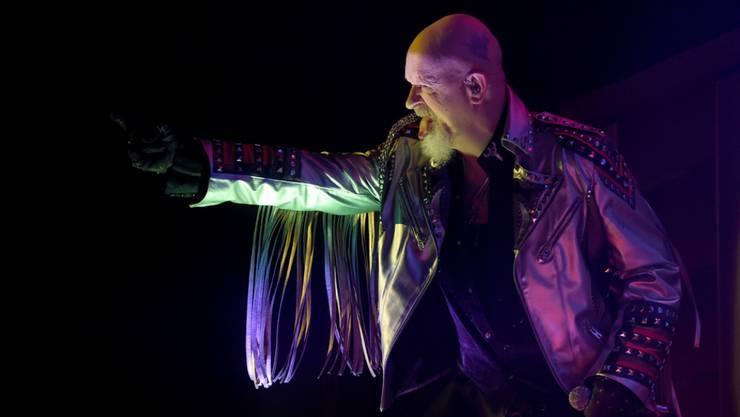 Rob Halford, Sänger der Heavy-Metal-Band Judas Priest wird zusammen mit seinen vier Kollegen Ian Hill, Glenn Tipton, Richie Faulkner und Scott Travis am 7. Juli im Zürcher Hallenstadion auftreten. (Archivbild)