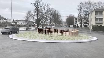 Die geplante Kunst auf dem neuen Kreisel in Urdorf soll an Weidezäune erinnern.