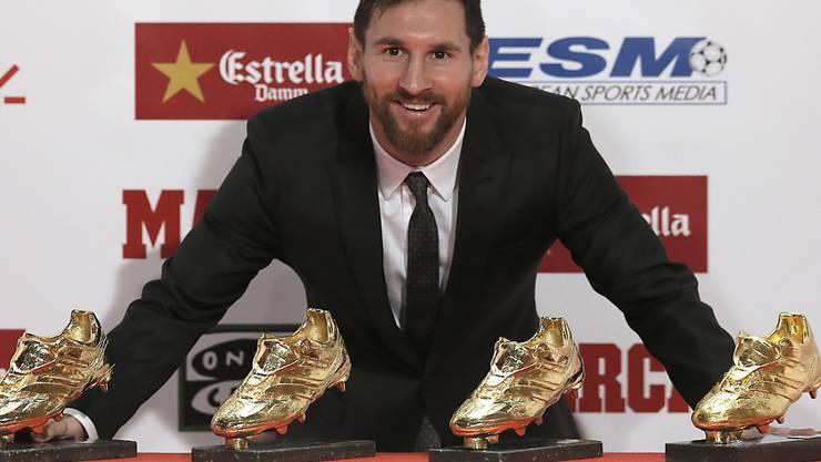 Bei der Wahl zum erneuten Fussballer des Jahres von Lionel Messi soll es zu Unregelmässigkeiten bei der Fifa gekommen sein. (Archivbild)