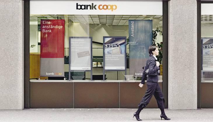 «Eine anständige Bank» meint Bank Coop.