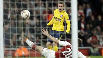 Der Moment, der Arsenal den Abend verdirbt: Antoine Griezmann gleicht für Atletico Madrid zum 1:1 aus