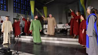 «Die Probe» heisst das Passionsspiel in der Marienkirche Olten; Christoph Schwager ist Autor und Regisseur zugleich.