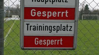 Der Sportplatz Schützenrain in Oberentfelden war wegen des vielen Regens zuletzt oft gesperrt.Otto lüscher