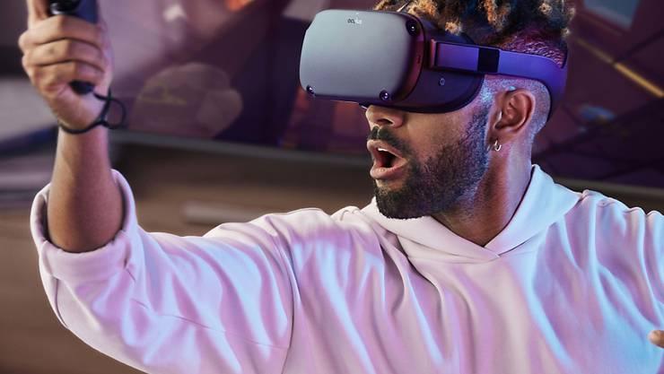 Die Facebook-Firma Oculus ist spezialsiert auf Virtual Reality Brillen. (Archivbild)