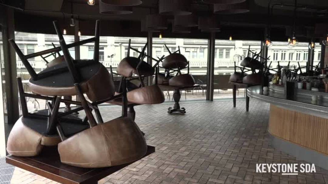 In der Stadt Zürich mussten wegen der bundesrätlichen Verordnung rund 1600 Gastronomiebetriebe ihren Betrieb von einem auf den anderen Tag einstellen