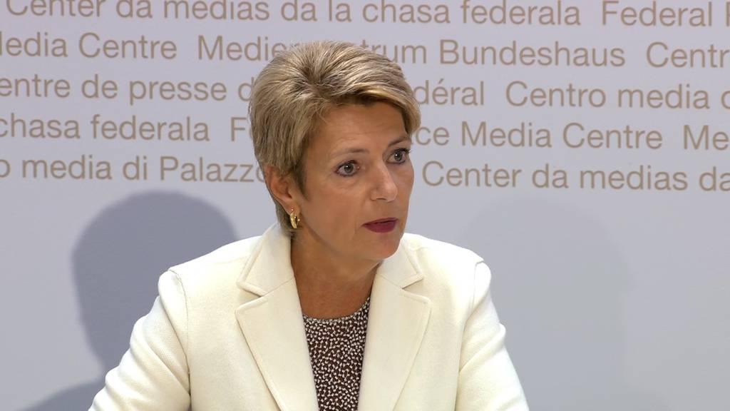 Keller-Sutter: «Aufnahme grösserer Gruppen nicht möglich»