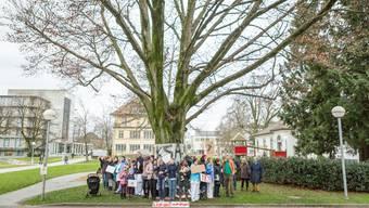 (Demo gegen die Fällung des Krähenbaums im Februar 2018)