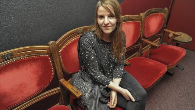 Die medial gehypte Jung-autorin Helene Hegemann nach ihrer wirbligen Lesung im Volkshaus Basel. Foto: HO