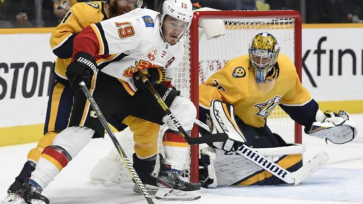 Matthew Tkachuk avancierte zum Matchwinner für die Calgary Flames in Nashville