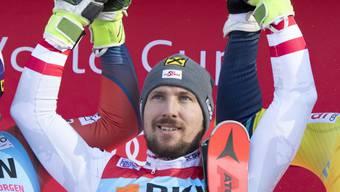 Marcel Hirscher feierte den fünften Sieg in Folge in einem Weltcup-Slalom.