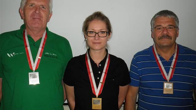 Liegendmatch Sportgewehre: 2. Werner Lenz (Fulenbach); 1. Erika Allemann (Breitenbach); 3. Manfred von Büren (Rüttenen).