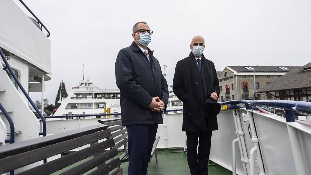Berset lobt «innovatives» Impfschiff - Sorgen bereiten Mutationen