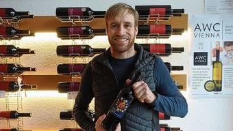 Ein krönender Abschluss: der Winzer Pirmin Umbricht mit seinem Ende Jahr lancierten Festtagswein.