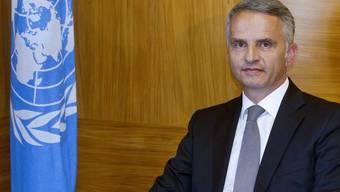 Bundesrat Burkhalter versprach in New York grosse Bemühungen der Schweiz in Sachen nachhaltige Energie. (Archiv)