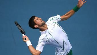 Novak Djokovic überzeugte gegen den Japaner Nishioka vor allem bei eigenem Service