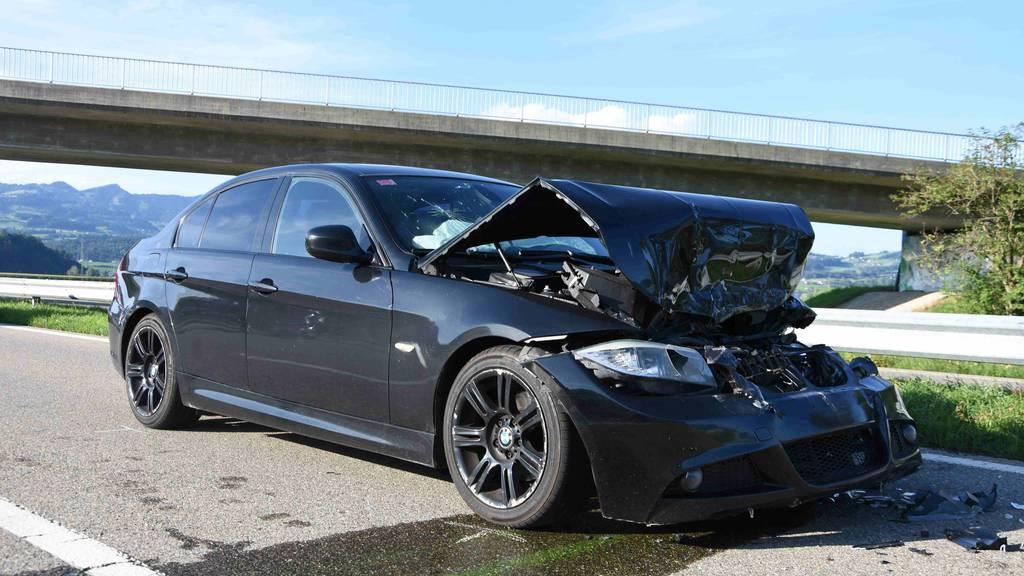 Bei Auffahrkollision auf Autobahn verletzt