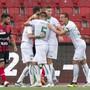 Der FC St. Gallen jubelt in Neuenburg über den Sieg und über den 2. Platz