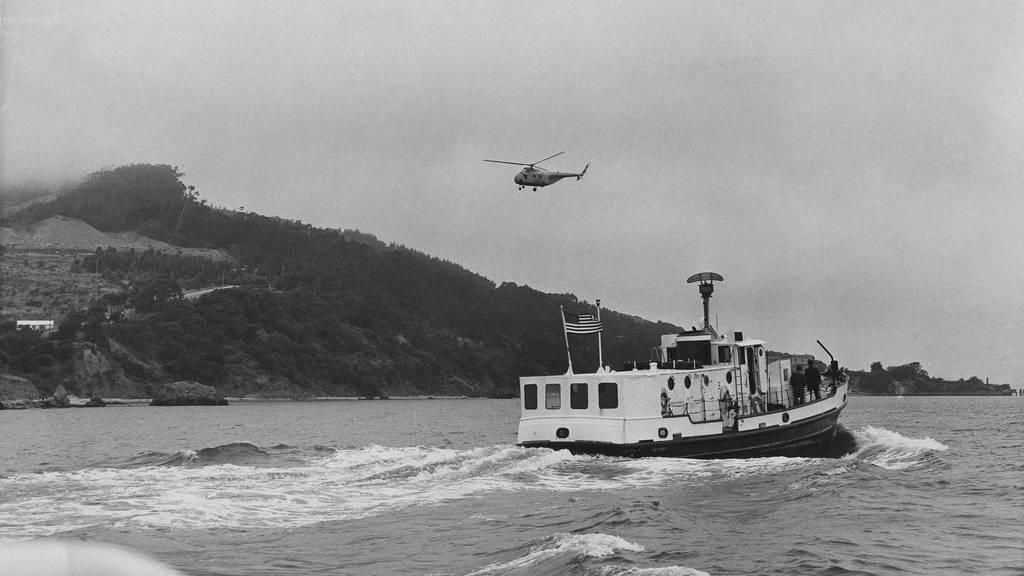 Ein historisches Bild der Alcatraz-Festung aus dem Jahr 1962. (AP Photo/N-CB)
