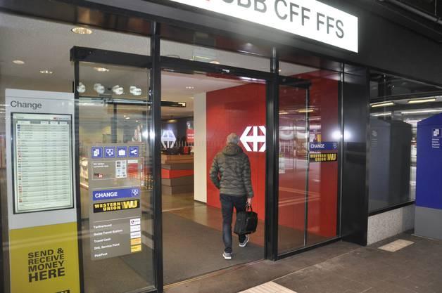 Das Bahnreisezentrum der SBB ist ebenfalls geöffnet.