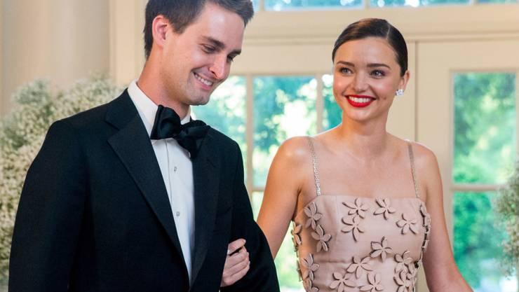 Evan Spiegel und Miranda Kerr erwarten ihr zweites, gemeinsames Kind. (Archivbild)