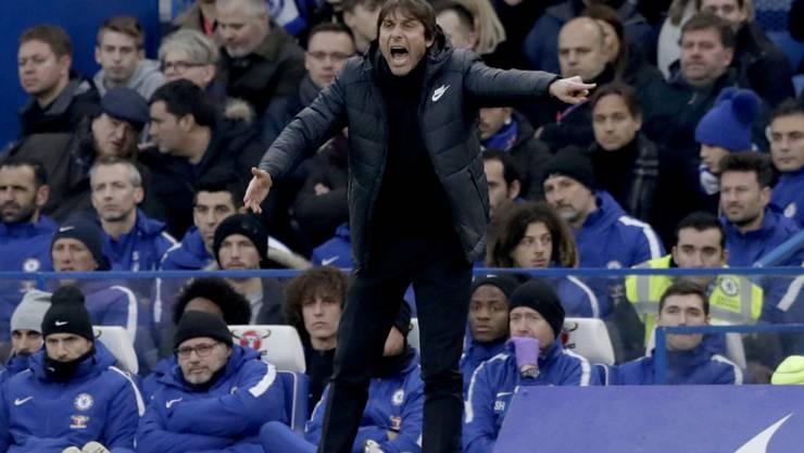 Alles schreien nützte nichts: Antonio Conte und Chelsea spielten gegen Leicester nur 0:0