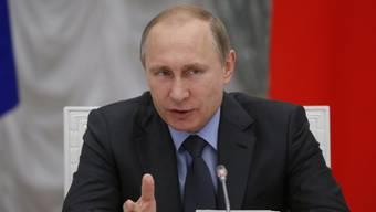 Russlands Präsident Wladimir Putin am Mittwoch in Moskau.