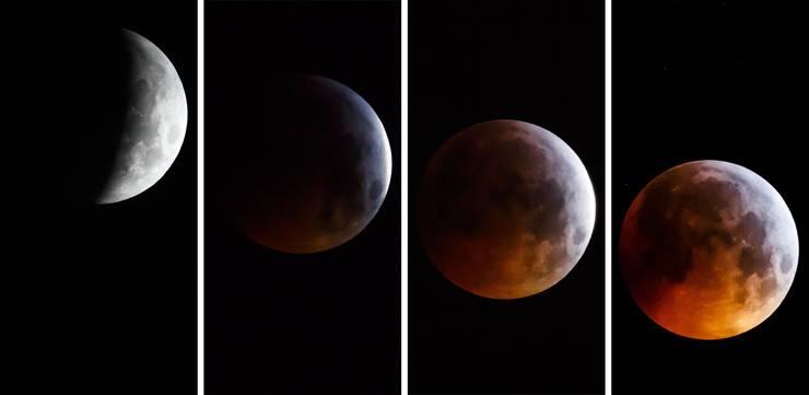 Gegen 6.12 Uhr stand der Mond vollständig im Kernschatten der Erde.