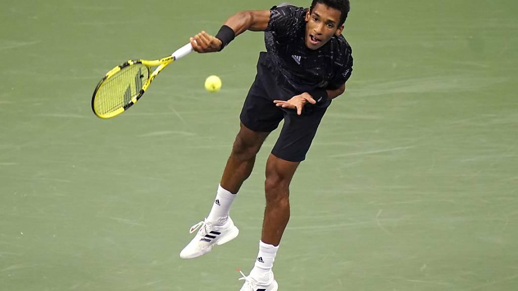 Félix Auger-Aliassime steht zum ersten Mal in seiner Karriere in einem Halbfinal an einem Grand-Slam-Turnier