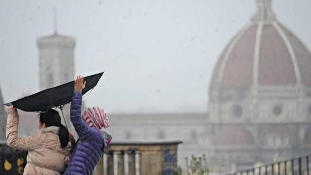 Auch über Florenz gingen schwere Regenschauer nieder