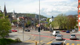 Der Unfallort bei der Hochbrücke. (Archivbild)