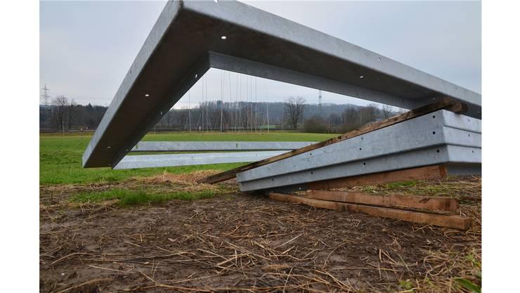 Der Regierungsrat bestätigt: Die Baubewilligung für die Vanoli AG auf diesem Gelände ist vom Gemeinderat Oberrüti zu Recht erteilt worden. ES