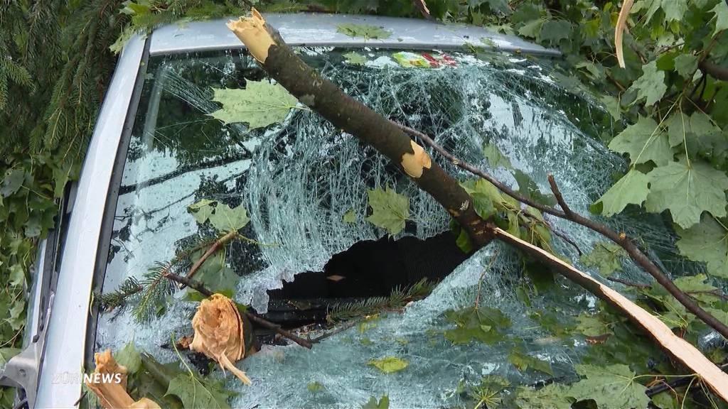 «Als wären wir inmitten eines Tornados»: So stark wütete der Hagelsturm am Käferberg