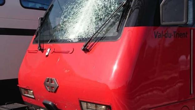 Erneut SBB-Zug von Kranteil getroffen