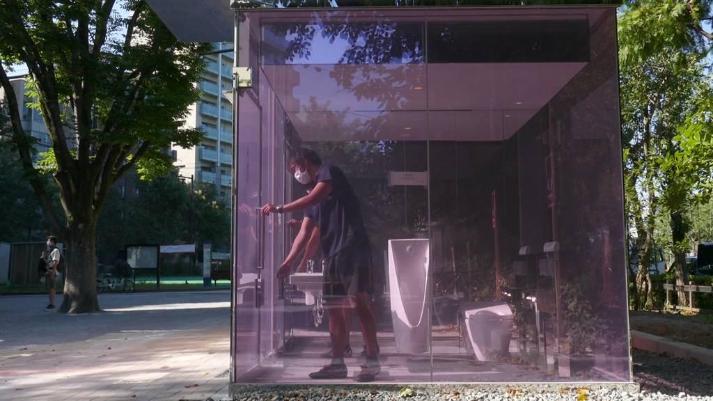 Durchsichtige Toiletten in Tokio!