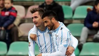 Sowohl Klose (links) wie auch Anderson trafen für Lazio Rom