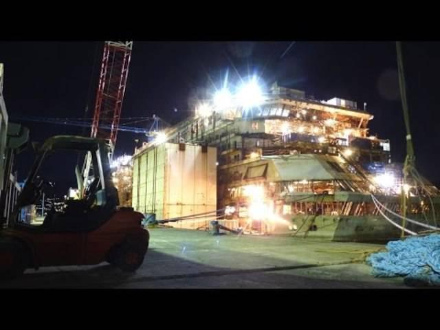 Costa Concordia: Ein Blick ins Innere des geborgenen Schiff-Wracks