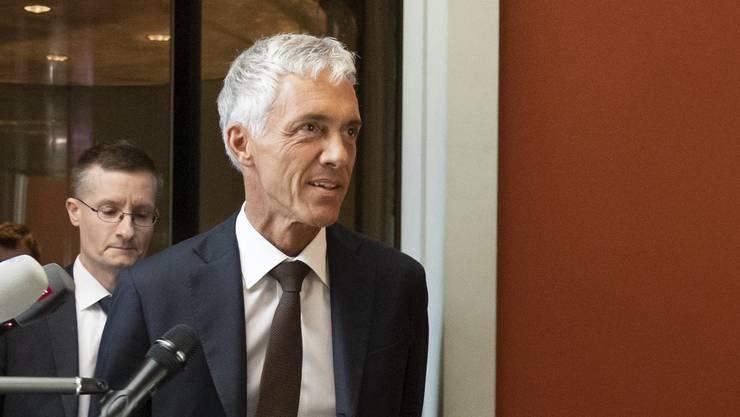 Kämpft um sein Amt: Bundesanwalt Michael Lauber, hier am vergangenen Mittwoch nach der Anhörung durch die Gerichtskommission.
