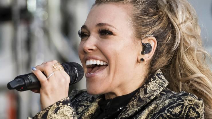 Die US-Sängerin Rachel Platten präsentiert sich am Mittwoch mit ihrem Baby-Bauch der Öffentlichkeit. (Archivbild)