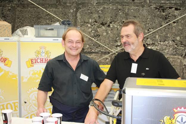 Ivo Kummer und Roger Saudan beim Perspektive-Röschtiessen 2010.