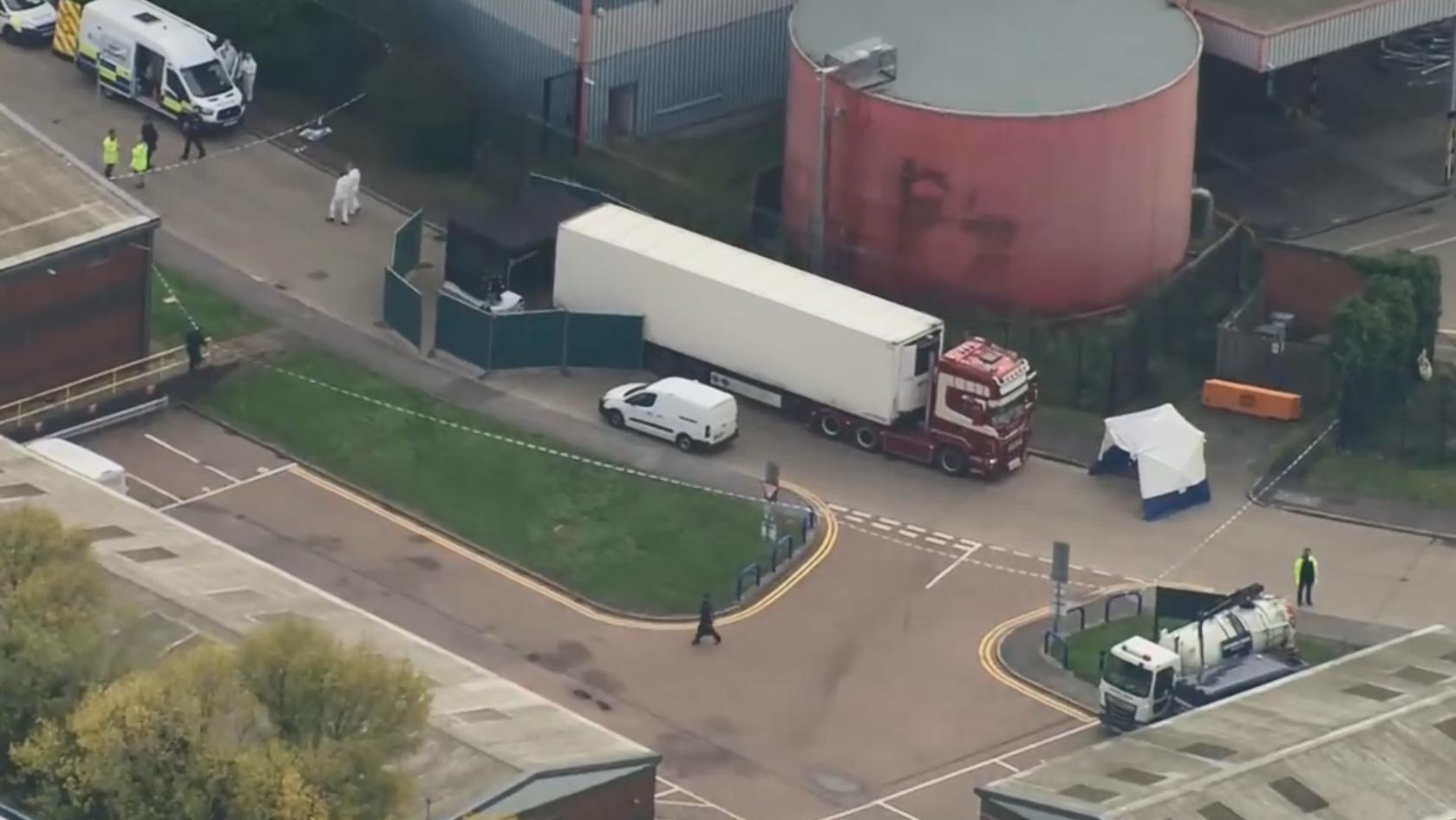 39 Leichen in Lastwagen in London entdeckt