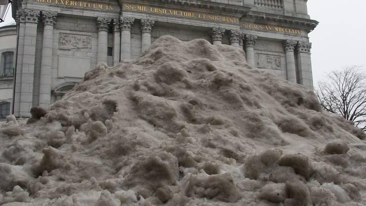 Schnee von vorgestern.