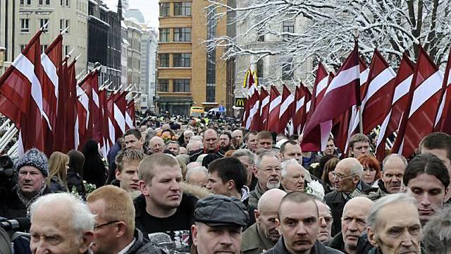 Marsch der Veteranen durch Riga
