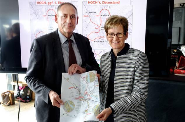 Hans-Peter Wessels und Sabine Pegoraro setzen sich für das Herzstück ein.
