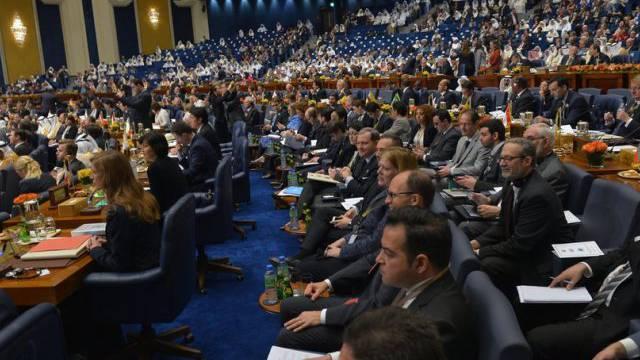 Blick auf die Geberkonferenz für Syrien am Dienstag in Kuwait
