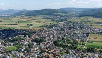 Luftaufnahme von Möhlin.